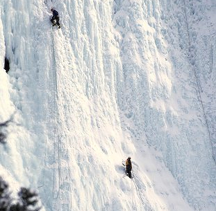 Ice Climbing in Banff