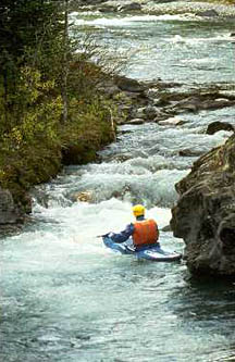 Kayak Banff National Park in the Canadian Rockies.
