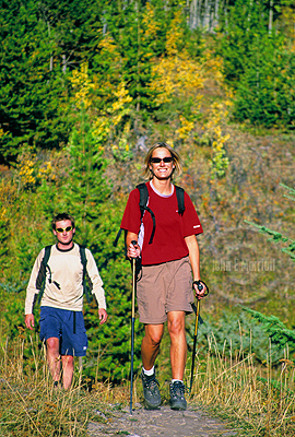 Summer day hikes in Banff National Park in the Canadian Rockies.